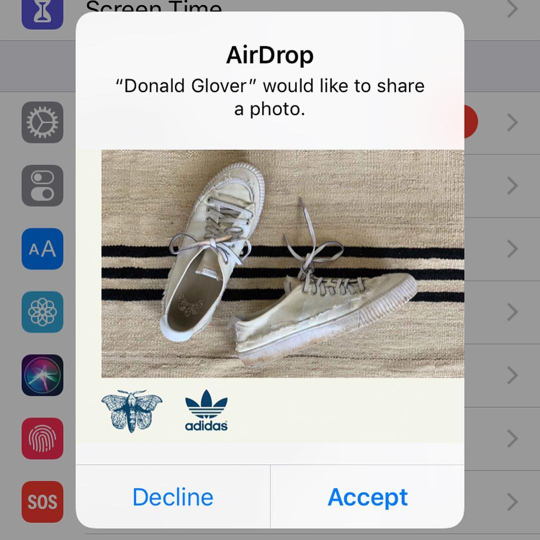 AirDropping Free Pairs Of donald glovers adidas Shoes